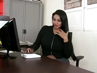 Obese butt latina office..