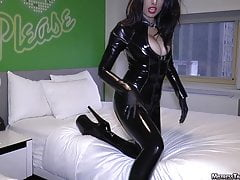 Women in latex